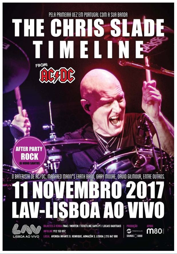 Oriente Chris Slade Concerto Timeline Lisboa ao Vivo