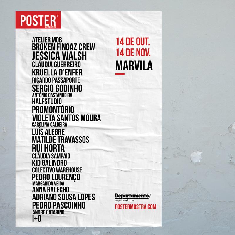 2ª Edição do Poster em Marvila - Lista de Artistas