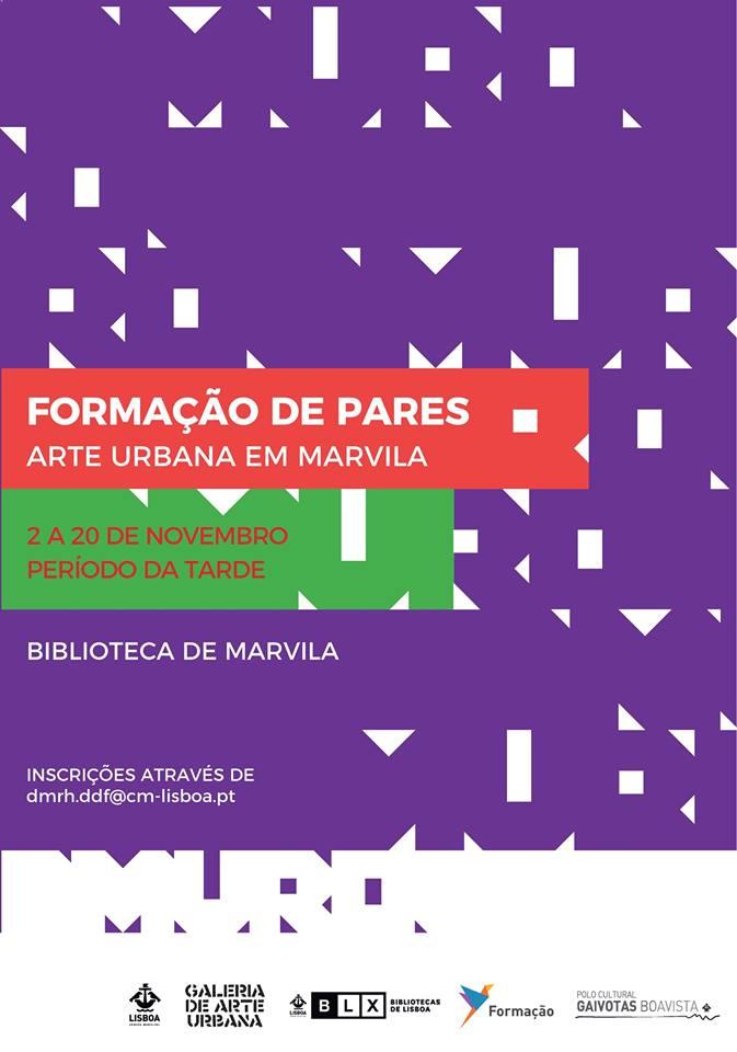 Curso Formação de Pares Arte Urbana Marvila